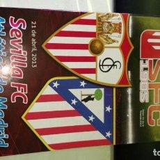 Coleccionismo deportivo: PROGRAMA FUTBOL ( NO ENTRADA ) SEVILLA FC ATLETICO DE MADRID ATLETI SANCHEZ PIJUAN 21-04-2013. Lote 103503175
