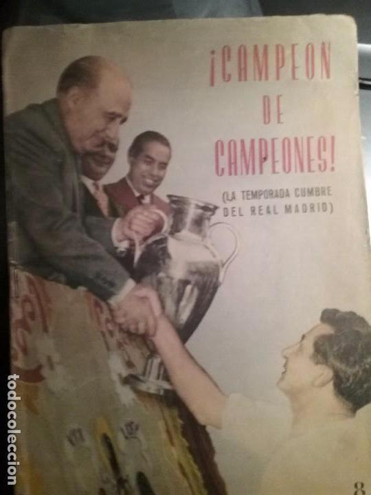 REVISTA CARETA. CAMPEON DE CAMPEONES. TEMPORADA CUMBRE DEL REAL MADRID 1956-57 (Coleccionismo Deportivo - Revistas y Periódicos - otros Fútbol)
