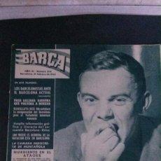 Coleccionismo deportivo: REVISTA BARÇA 378-1963. KUBALA. Lote 104289047