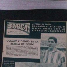 Coleccionismo deportivo: REVISTA BARÇA 382-1963 . Lote 104289275