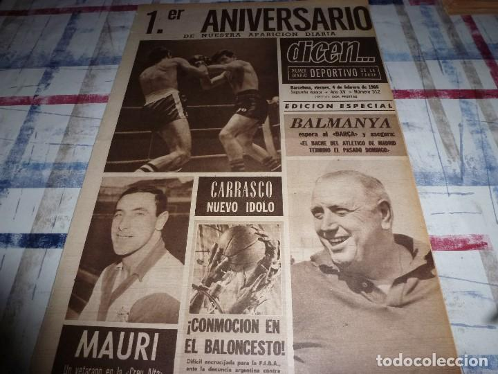 DICEN(4-2-66)CARRASCO(BOXEO)MAURI(SABADELL)MANCHESTER UTD.ANTES ACCIDENTE AEREO,ARGENTINA FUTBOL (Coleccionismo Deportivo - Revistas y Periódicos - otros Fútbol)