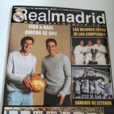 Coleccionismo deportivo: REVISTA REAL MADRID NUMERO 136, JULIO - AGOSTO 2001. Lote 105373327