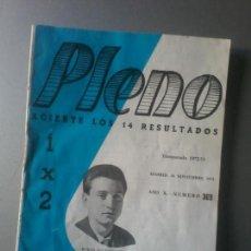 Coleccionismo deportivo: PLENO TEMPORADA 1972-73 NUM 369 REVISTA QUINIELAS BORJA DEL ESPAÑOL. Lote 105425711