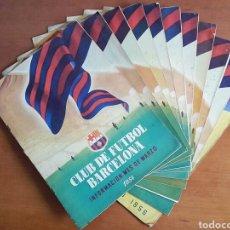 Coleccionismo deportivo: LOTE REVISTA CLUB DE FUTBOL BARCELONA INFORMACIÓN AÑOS 1954, 1955 Y 1956 - BARÇA CAMP NOU CULÉ. Lote 105580851
