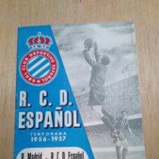 Coleccionismo deportivo - Revista oficial RCD español. Real club Deportivo temporada 1956-1957. 15 septiembre 1956 - 105763428