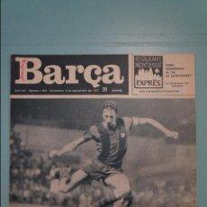 Coleccionismo deportivo: REVISTA DE FÚTBOL F.C.BARCELONA BARÇA Nº 1034 AÑO 1975. Lote 105797919