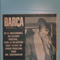 Coleccionismo deportivo: REVISTA DE FÚTBOL F.C.BARCELONA BARÇA,Nº 746 AÑO 1970. Lote 105798339