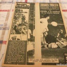 Coleccionismo deportivo: (ML)LEAN(17-6-63)R.MADRID 3 ZARAGOZA 0,DI STEFANO EXPULSADO!!!ESCOCIA-ESPAÑA,BARÇA 1 VALENCIA 1. Lote 105922259