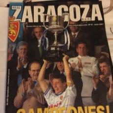 Coleccionismo deportivo: REVISTA REAL ZARAGOZA CAMPEÓN COPA DEL REY 2001 REVISTA OFICIAL REAL ZARAGOZA. Lote 106107227