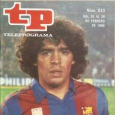 Coleccionismo deportivo: DIEGO ARMANDO MARADONA FUTBOL CLUB BARCELONA CONTRA EL REAL MADRID TP 1984 MBE. Lote 106556715