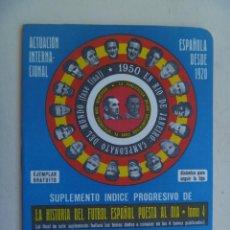 Coleccionismo deportivo: PEQUEÑA PUBLICACION DINAMICO : HISTORIA DEL FUTBOL ESPAÑOL. 1974-1975. Lote 106610839