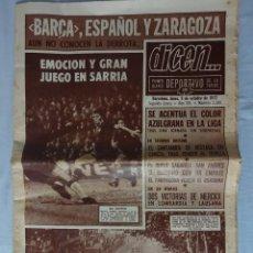 Coleccionismo deportivo: DIARIO DEPORTIVO DICEN. Nº 2388 OCTUBRE 1972. ESPANYOL 1 BARCELONA 1. Lote 106670215