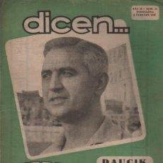 Coleccionismo deportivo: REVISTA DICEN - FUTBOL - AÑO 2º Nº 22 - 1953 - DAUCIK - CESAR POR JULIAN MIR. Lote 107362263