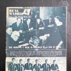 Colecionismo desportivo: REAL MADRID - AÑO 1956 - Nº 68 - MILAN SEMIFINALES COPA EUROPA, JULIO CHULILLA, NEWCASTLE FULHAM, BE. Lote 107375415