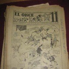 Coleccionismo deportivo: EL ONCE. REVISTA DEPORTIVA DE HUMOR. 38 NUMEROS AÑO 1947.. Lote 107647671