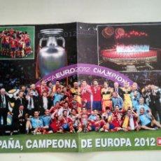 Coleccionismo deportivo: POSTER SELECCION ESPAÑOLA DE FUTBOL LA ROJA CAMPEONES DE EUROPA 2012 EUROCOPA REVISTA HOLA. Lote 107724967