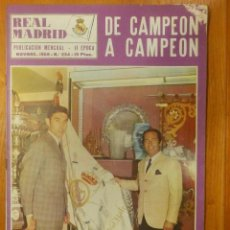 Coleccionismo deportivo: REVISTA - REAL MADRID - Nº 234 - BOLETÍN INFORMATIVO - NOVIEMBRE 1969 - 38 PÁGINAS. Lote 107848643