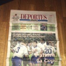 Coleccionismo deportivo: DEPORTES HERALDO 18 JUNIO 2001 REAL ZARAGOZA. Lote 108025000