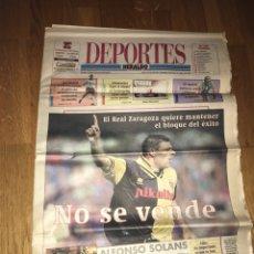 Coleccionismo deportivo: HERALDO DEPORTES 22 MAYO 2000 REAL ZARAGOZA MILOSEVIC. Lote 108025042
