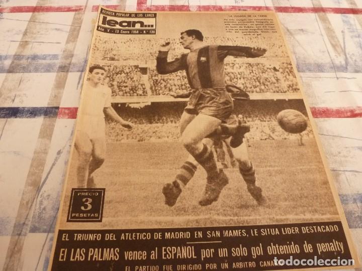 (ML)LEAN(1-1-58)RIBELLES,BARÇA 1 VALENCIA 1,LUIS SUAREZ Y TEJADA, (Coleccionismo Deportivo - Revistas y Periódicos - otros Fútbol)