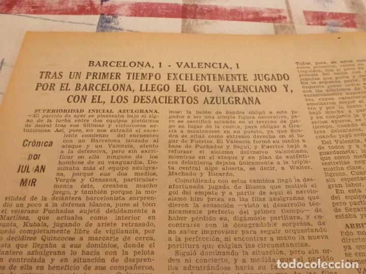 Coleccionismo deportivo: (ML)LEAN(1-1-58)RIBELLES,BARÇA 1 VALENCIA 1,LUIS SUAREZ Y TEJADA, - Foto 2 - 109515367