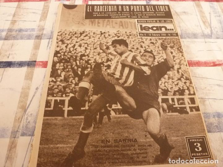 (ML)LEAN(10-2-58)R.SOCIEDAD 1 BARÇA 2,ANTONIO JULIÁ DE CAPMANY,R.S.D.ESPAÑOL 2 OSASUNA 0 (Coleccionismo Deportivo - Revistas y Periódicos - otros Fútbol)