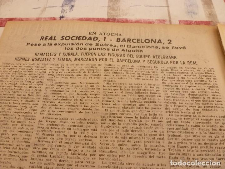Coleccionismo deportivo: (ML)LEAN(10-2-58)R.SOCIEDAD 1 BARÇA 2,ANTONIO JULIÁ DE CAPMANY,R.S.D.ESPAÑOL 2 OSASUNA 0 - Foto 2 - 109516387
