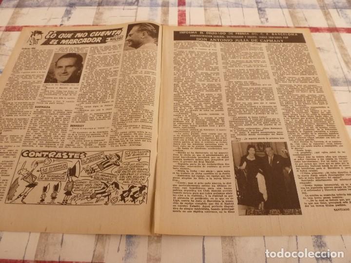 Coleccionismo deportivo: (ML)LEAN(10-2-58)R.SOCIEDAD 1 BARÇA 2,ANTONIO JULIÁ DE CAPMANY,R.S.D.ESPAÑOL 2 OSASUNA 0 - Foto 3 - 109516387