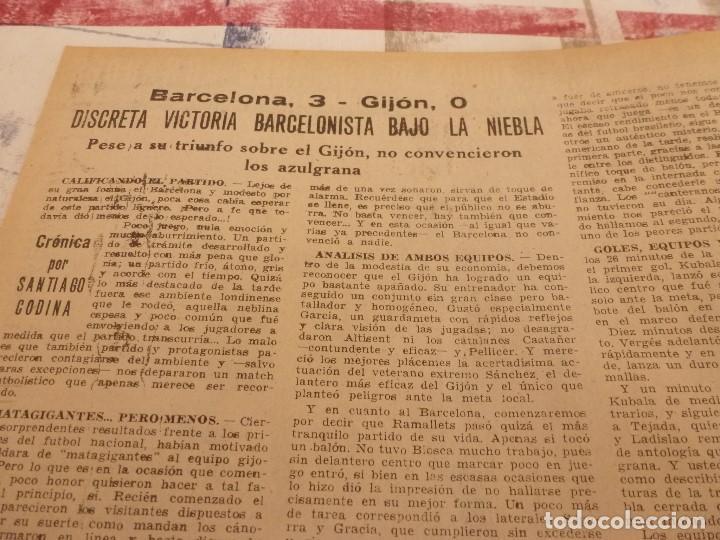 Coleccionismo deportivo: (ML)LEAN(17-2-58)BARÇA 3 GIJÓN 0,SANCHEZ Y TEJADA,CZIBOR,BULGARIA 51 ESPAÑA 39 EN MONTJUICH - Foto 2 - 109517343