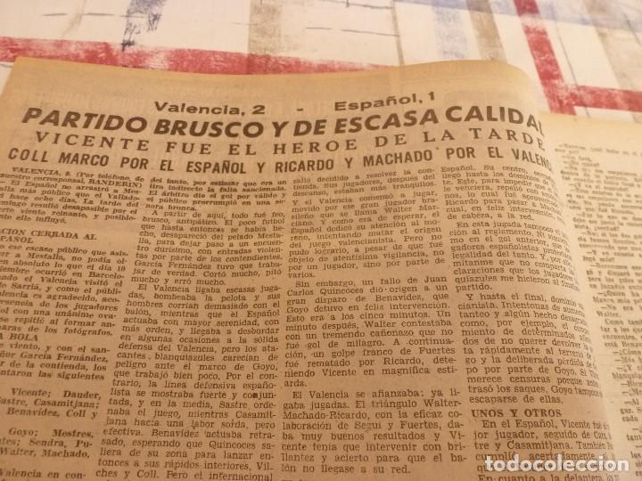 Coleccionismo deportivo: (ML)LEAN(10-3-58)VALENCIA 2 ESPAÑOL 1,BARÇA 7 VALLADOLID 1,LUIS SUAREZ,BADENES Y RICARDO. - Foto 2 - 109517715