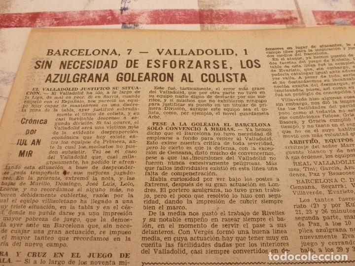 Coleccionismo deportivo: (ML)LEAN(10-3-58)VALENCIA 2 ESPAÑOL 1,BARÇA 7 VALLADOLID 1,LUIS SUAREZ,BADENES Y RICARDO. - Foto 3 - 109517715