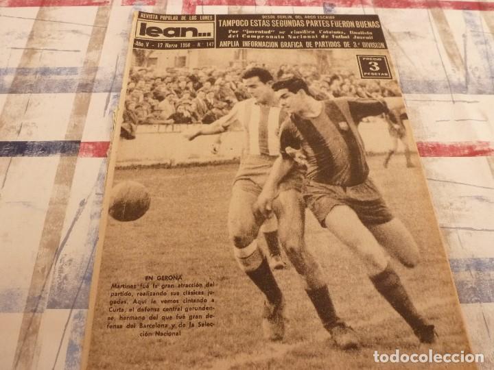 (ML)LEAN(17-3-58)ESPAÑOL 2 TARRASA 2,GIRONA 1 BARÇA 3,SANTAMARIA(RACING)LA 3ª DIVISION. (Coleccionismo Deportivo - Revistas y Periódicos - otros Fútbol)