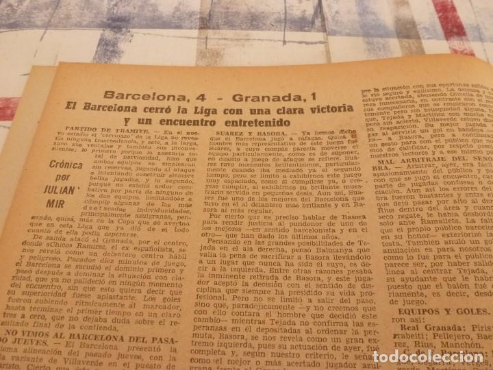 Coleccionismo deportivo: (ML)LEAN(5-5-58)BILBAO 3 ESPAÑOL 2,BARÇA 4 GRANADA 1,BASORA Y COQUE,XXIII VUELTA CICLISTA BARCELONA - Foto 3 - 109519379