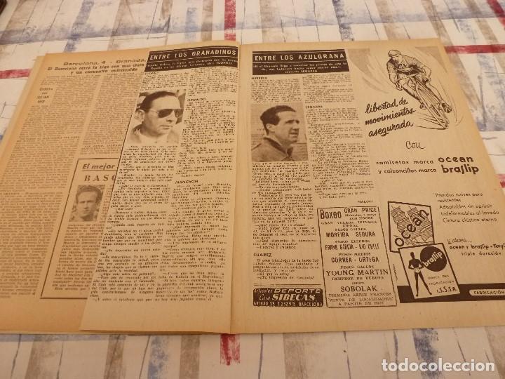 Coleccionismo deportivo: (ML)LEAN(5-5-58)BILBAO 3 ESPAÑOL 2,BARÇA 4 GRANADA 1,BASORA Y COQUE,XXIII VUELTA CICLISTA BARCELONA - Foto 5 - 109519379