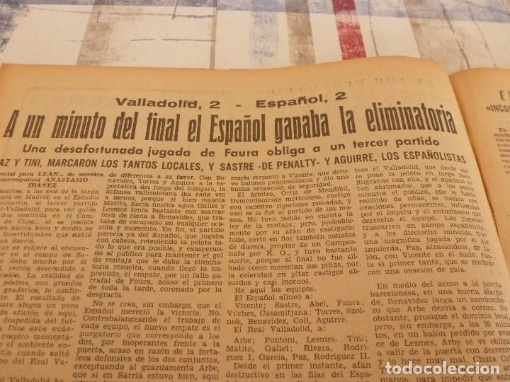 Coleccionismo deportivo: (ML)LEAN(26-5-58)BARÇA 8 ZARAGOZA 0,LUIS SUAREZ Y LASHERAS,VALLADOLID 2 ESPAÑOL 2,DAUCIK,LUIS PUIG. - Foto 5 - 109523567