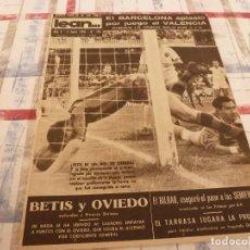 Coleccionismo deportivo: (ML)LEAN(2-6-58)BARÇA 3 VALENCIA 0,SEGARRA Y SÓCRATES,KOCSIS FICHA BARÇA,LA COPA DE EUROPA.. Lote 109523939