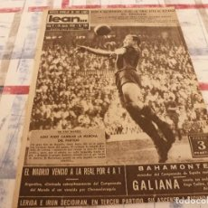 Coleccionismo deportivo: (ML)LEAN(16-6-58)BILBAO 2 BARÇA 0,ESPAÑOL 0 BANGÚ 3,GALIANA DESDE BUENOS AIRES(ARGENTINA). Lote 109524475