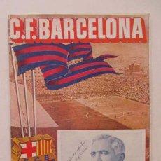 Coleccionismo deportivo: C.F. BARCELONA - PARTIDO LIGA BARCELONA - ATLETICO DE MADRID. Lote 109560523