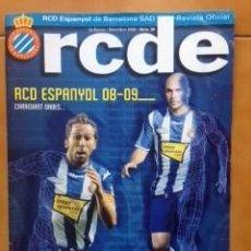 Coleccionismo deportivo: REVISTA ESPORTIVA RCDE Nº 30 SETEMBRE 2008 - REVISTA OFICIAL RCD ESPANYOL . Lote 110231343