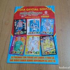 Collezionismo sportivo: GUÍA OFICIAL - ADRENALYN 2017-18 - TRADING CARD GAME - LIGA SANTANDER - PANINI. Lote 110791507