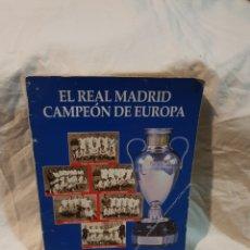 Coleccionismo deportivo: EL REAL MADRID CAMPEÓN DE EUROPA ABC. Lote 110902378