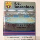 Coleccionismo deportivo: PROGRAMA OFICIAL FC BARCELONA MALAGA LIGA 1976-77 NÚMERO 482 PÓSTER NEESKENS FÚTBOL BARÇA. Lote 111046799