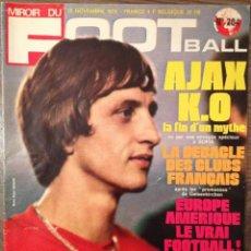 Coleccionismo deportivo: CRUYFF. CRUIJFF. FOOT MAGAZINE 1973, PARTIDO EUROPA-AMERICA. Lote 111436719