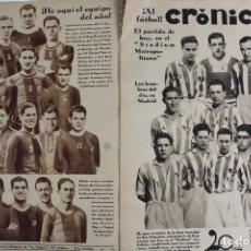 Coleccionismo deportivo: RV-94. REVISTA CRÓNICA. 2 EJEMPLARES. ENERO DE 1930. CONTRAPORTADA DEPORTIVA DE LA REVISTA.. Lote 111460135