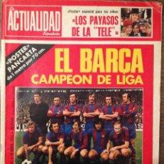 Coleccionismo deportivo: CRUYFF FC BARCELONA 74 CAMPEONES, AMPLIO REPORTAJE EN COLOR BUEN ESTADO. INCLUYE POSTER GIGANTE.. Lote 111516043