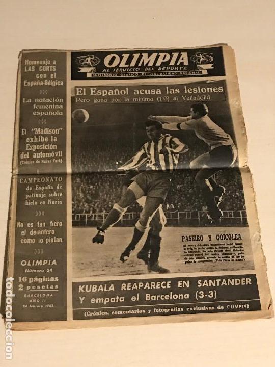 OLIMPIA SUPLEMENTO GRÁFICO DE SOLIDARIDAD NACIONAL 24 FEBRERO 1953 (Coleccionismo Deportivo - Revistas y Periódicos - otros Fútbol)