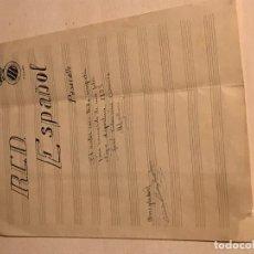 Coleccionismo deportivo: PARTITURA PASACALLE R.C.D ESPANYOL 1953 JOSÉ COLOMINA. Lote 111542671