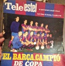 Coleccionismo deportivo: F.C. BARCELONA CAMPIÓ COPA 1968. TELE/ESTEL. Lote 111899679