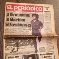 Coleccionismo deportivo: MARADONA FC BARCELONA.0-2 AL MADRID. EL PERIÓDICO BUEN ESTADO.. Lote 112184127