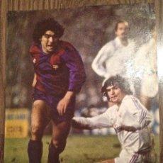 Coleccionismo deportivo: MARADONA FC BARCELONA.0-2 AL MADRID. FOTO DE REVISTA. BUEN ESTADO.. Lote 112184147